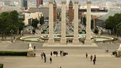 Placa Espanya, Barcelona Stock Footage