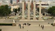 Stock Video Footage of Placa Espanya, Barcelona