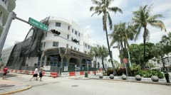 Lincoln Road Theater renovation Stock Footage
