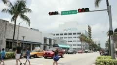 Lincoln Road Miami Stock Footage