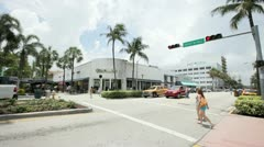 Lincoln Road Miami Stock Footage