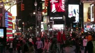 Crowd of people in Time Square New York City HD730 Stock Footage