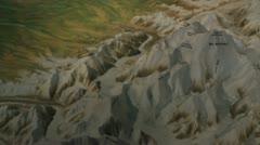 Mount McKinley model pan mountain Alaska P HD 1534 Stock Footage