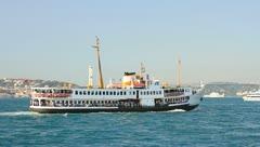 Daily Bosporus Cruise Stock Footage