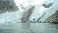 Northwest Glacier boat away P HD 8356 Stock Footage