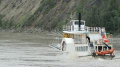 River boat Yukon P HD 1416 Stock Footage