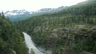 Stock Video Footage of River gorge mountain Valdez P HD 8461
