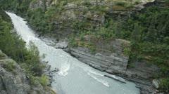 River gorge near Valdez Alaska P HD 8460 Stock Footage