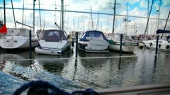 sail boats - stock footage