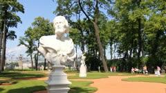 Allegorical sculpture in the Summer Garden, St. Petersburg, Russia - stock footage