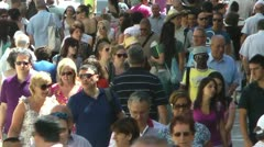 Crowd moving in Slow Motion Stock Footage