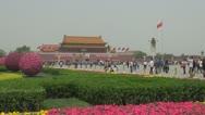 Stock Video Footage of Forbidden city tourist people enjoy Tiananmen Square Beijing China landmark icon
