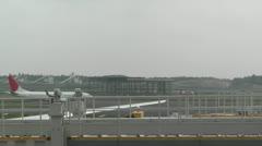 Tokyo Narita Airport Terminal 2 02 jal Stock Footage