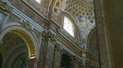 Inside San Luigi dei Francesi (5), Rome Stock Footage