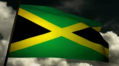 Flag Jamaica 02 Stock Footage