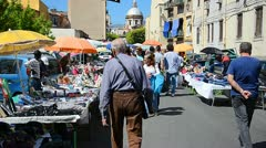 Palermo market 2 Stock Footage