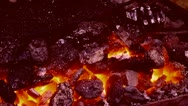 Stock Video Footage of High temperature coal