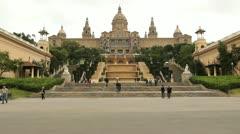 Museum Nacional d'art de Catalunya, Barcelona Stock Footage