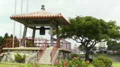 World Peace Bell in Ishigaki Okinawa Islands 03 Stock Footage