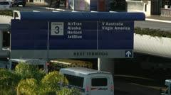 LAX Terminal 3 Exterior 0054BI Stock Footage