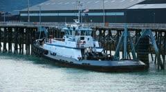 Tug Boat Skagway Alaska marina P HD 0017 Stock Footage