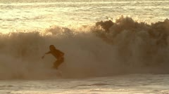 Mexico surfers Stock Footage