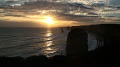 Twelve Apostles collection - Sunset 2 different exposure Stock Footage