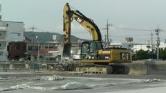 Excavator in work Okinawa Islands 01 Stock Footage