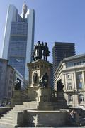 Gutenberg monument in Frankfurt Germany - stock photo