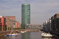 Little harbor in Frankfurt Germany Stock Photos
