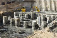 Construction site - base Stock Photos