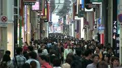 Shinsaibashi shopping street, Osaka, Japan Stock Footage