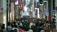 Stock Video Footage of Shinsaibashi shopping street, Osaka, Japan
