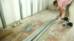 Installing drywall Stock Footage