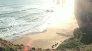 Stock Video Footage of Twelve Apostles collection - Pan from ocean to view point