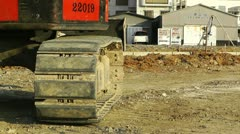 Excavator parking Okinawa Islands 03 Stock Footage