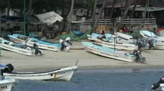 Puerto escondido bay mexico Stock Footage