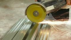 Working with the Angle Grinder Stock Footage