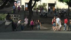 Park in Catania city. - stock footage