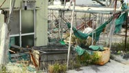 Garbage in Fishing Port 01 Stock Footage