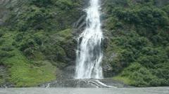 Waterfall glacier river Valdez Alaska P HD 8705 Stock Footage
