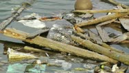 Garbage in Water 01 pollution Stock Footage