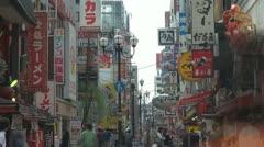 People visiting Dotonbori street, Osaka, Japan Stock Footage