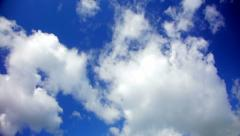 Very nice time lapse of a blue sky with white clouds in 1080p Stock Footage