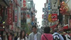 People visiting Dōtonbori street, Osaka, Japan Stock Footage