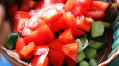 Cooking salad, set of FullHD video Stock Footage