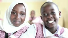 School girls kenya Stock Footage