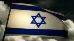 Flag Israel 02 Stock Footage
