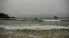 Stock footage stones wave sky beautiful seascape Samui  Stock Footage