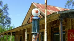 Old Gas Pump Advertizing 18 Cent Per Gallon Gas 1 Stock Footage